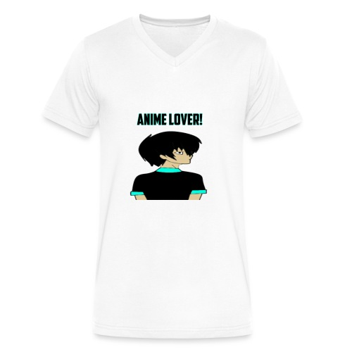 anime lover - Men's V-Neck T-Shirt by Canvas