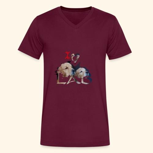 I love Lab - Men's V-Neck T-Shirt by Canvas