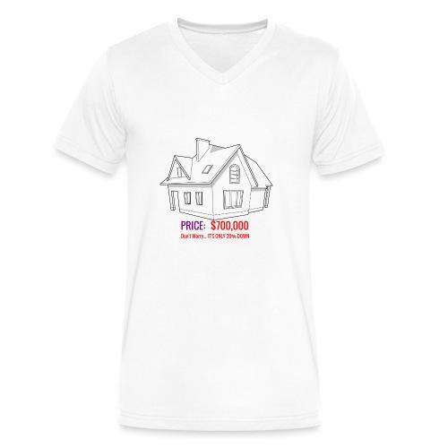 Fannie & Freddie Joke - Men's V-Neck T-Shirt by Canvas