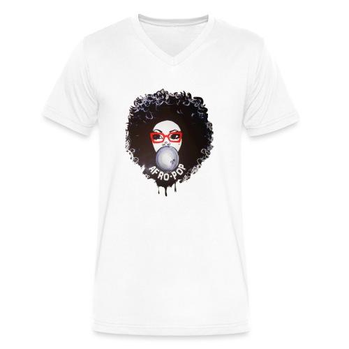 Afro pop_ - Men's V-Neck T-Shirt by Canvas