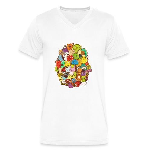 Doodle for a poodle - Men's V-Neck T-Shirt by Canvas