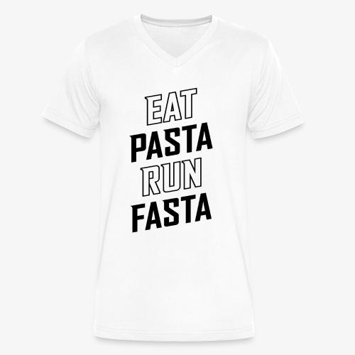 Eat Pasta Run Fasta v2 - Men's V-Neck T-Shirt by Canvas