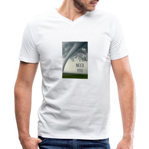 God I Need You - Men's V-Neck T-Shirt by Canvas