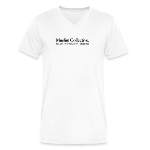 Muslim Collective Logo + tagline - Men's V-Neck T-Shirt by Canvas