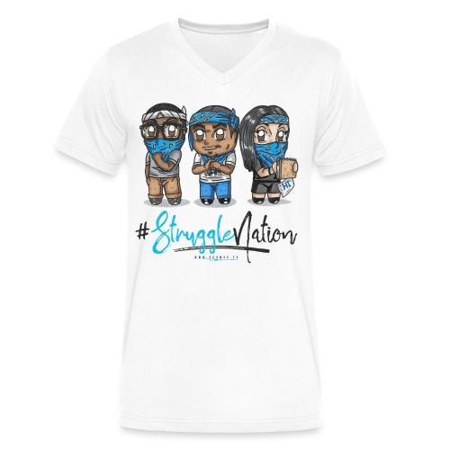 The Trio 3 (blue/black) - Men's V-Neck T-Shirt by Canvas