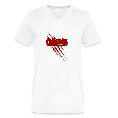 Creature Features Slash T - Men's V-Neck T-Shirt by Canvas