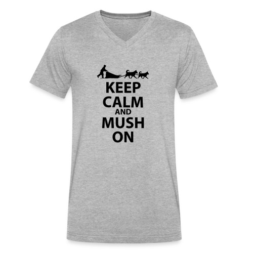 Keep Calm & MUSH On - Men's V-Neck T-Shirt by Canvas
