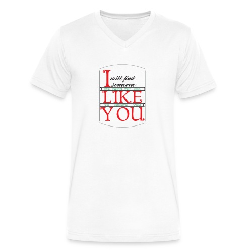 i like you - Men's V-Neck T-Shirt by Canvas