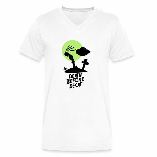 Death Before Decaf - Men's V-Neck T-Shirt by Canvas