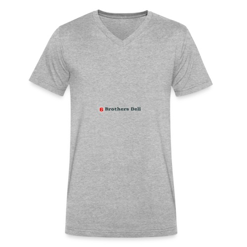 6 Brothers Deli - Men's V-Neck T-Shirt by Canvas
