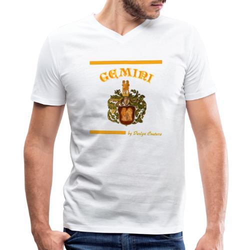 GEMINI ORANGE - Men's V-Neck T-Shirt by Canvas