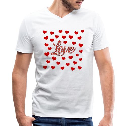 VALENTINES DAY GRAPHIC 3 - Men's V-Neck T-Shirt by Canvas