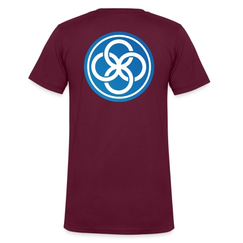 The IICT Seal - Men's V-Neck T-Shirt by Canvas