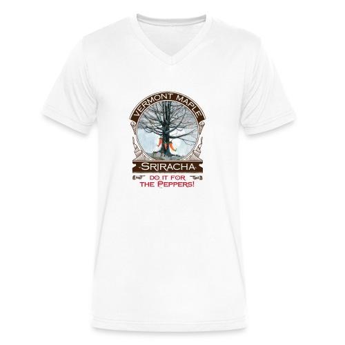 Vermont Maple Sriracha - Men's V-Neck T-Shirt by Canvas