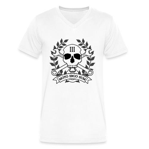 Moto Ergo Sum - Men's V-Neck T-Shirt by Canvas
