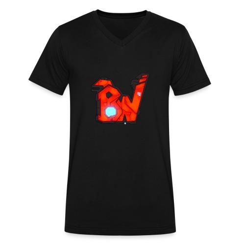 BW - Men's V-Neck T-Shirt by Canvas