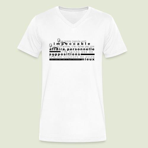 4 Accords Toltèques - Men's V-Neck T-Shirt by Canvas
