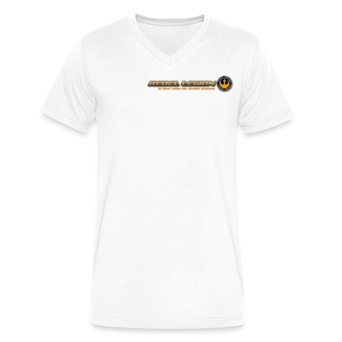 Rebel Legion Header - Men's V-Neck T-Shirt by Canvas