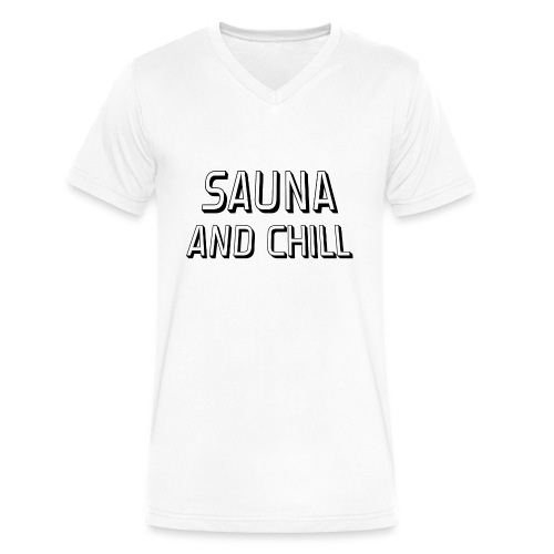 DS - Sauna And Chill - Men's V-Neck T-Shirt by Canvas
