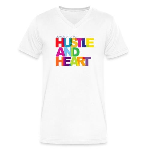 Heart & Hustle - Men's V-Neck T-Shirt by Canvas
