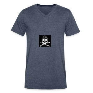 Greaser skull - Men's V-Neck T-Shirt by Canvas