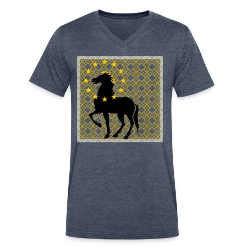 Roman Horse - Men's V-Neck T-Shirt by Canvas