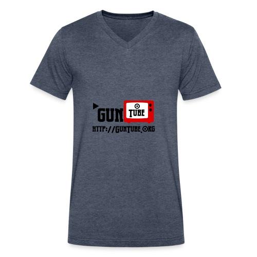 GunTube Shirt with URL - Men's V-Neck T-Shirt by Canvas