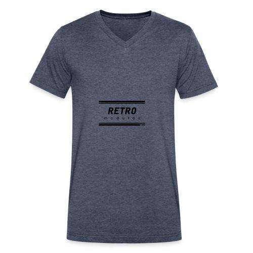 Retro Modules - Men's V-Neck T-Shirt by Canvas