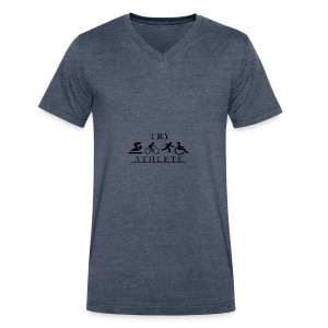 TRY ATHLETE - Men's V-Neck T-Shirt by Canvas