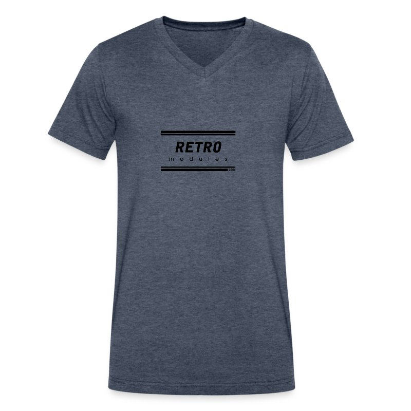 Retro Modules - Men's V-Neck T-Shirt by Canvas