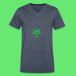 ESCLUSIVE!! 420 weed is coolio for kidlios SHIrT!1 - Men's V-Neck T-Shirt by Canvas