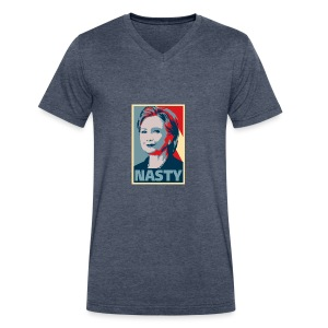 Hillary Clinton A Nasty Woman? Vote Nasty In 2016. - Men's V-Neck T-Shirt by Canvas