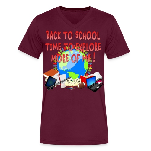 BACK TO SCHOOL, TIME TO EXPLORE MORE OF ME ! - Men's V-Neck T-Shirt by Canvas