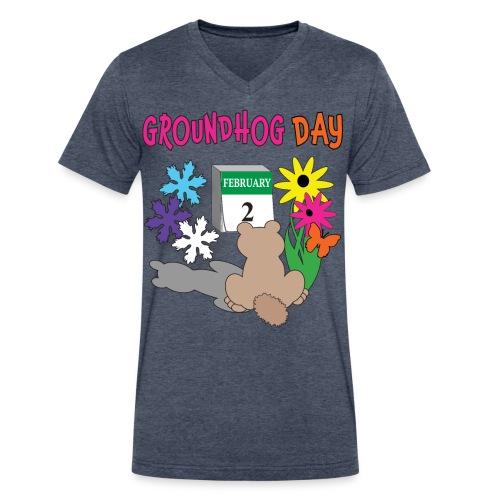 Groundhog Day Dilemma - Men's V-Neck T-Shirt by Canvas