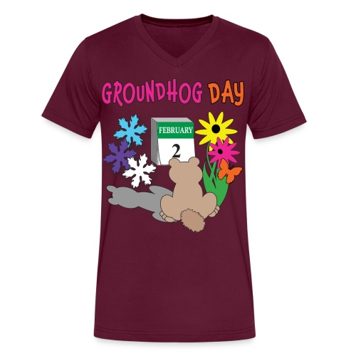 Groundhog Day Dilemma - Men's V-Neck T-Shirt by Canvas
