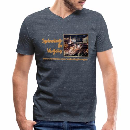 Spinning in Vegas Clothing Line - Men's V-Neck T-Shirt by Canvas