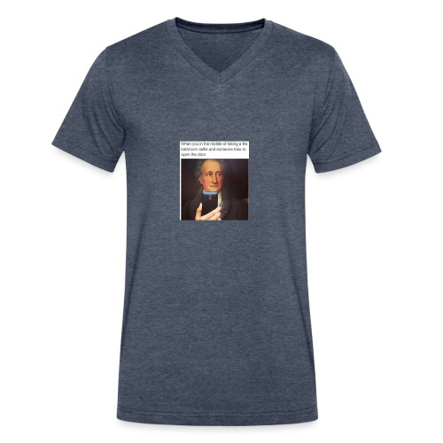 dank memes 30 photos 27 - Men's V-Neck T-Shirt by Canvas