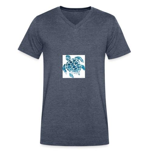 turtle - Men's V-Neck T-Shirt by Canvas
