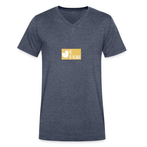J & O Vlogs - Men's V-Neck T-Shirt by Canvas