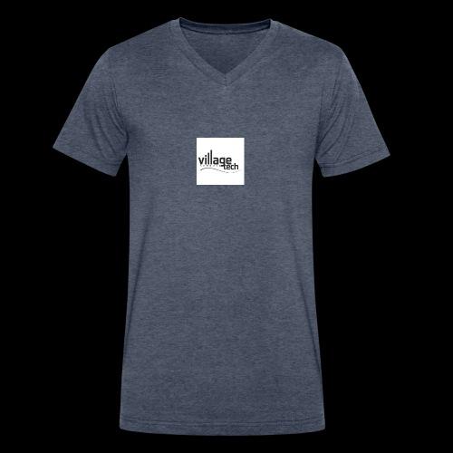 vt - Men's V-Neck T-Shirt by Canvas
