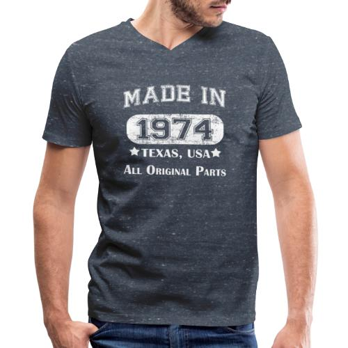 Made in 1974 Texas - Men's V-Neck T-Shirt by Canvas