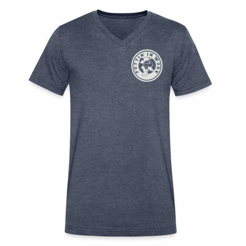P.I.W White Logo - Men's V-Neck T-Shirt by Canvas