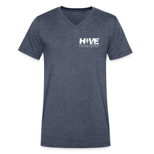 White Hive Hunterz Logo - Men's V-Neck T-Shirt by Canvas