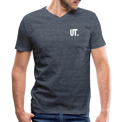 UTAWESOME sleeve print - Men's V-Neck T-Shirt by Canvas