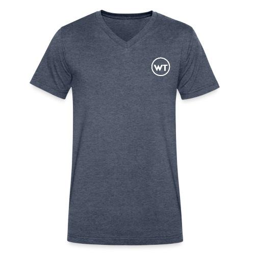 Logo - Ring - White - Men's V-Neck T-Shirt by Canvas