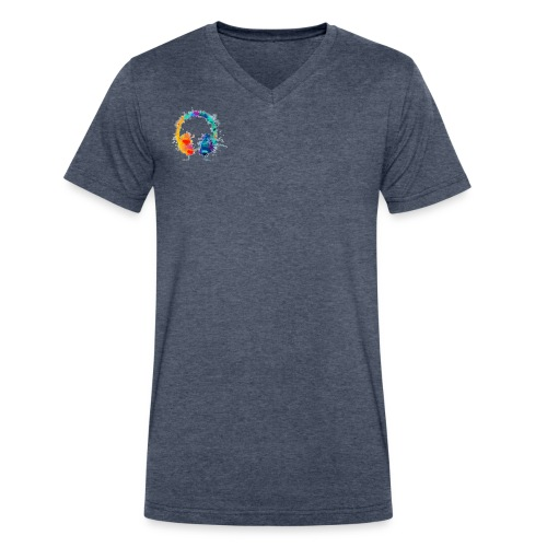 Colourful headset - Men's V-Neck T-Shirt by Canvas