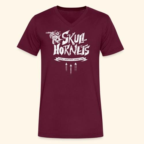 skull hornets - Men's V-Neck T-Shirt by Canvas