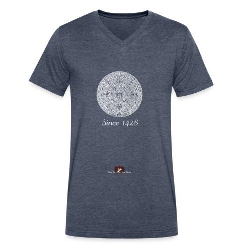 Since 1428 Aztec Design! - Men's V-Neck T-Shirt by Canvas