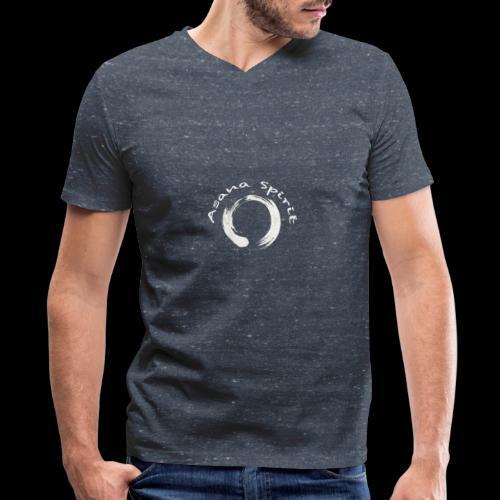 Enso Ring - Asana Spirit - Men's V-Neck T-Shirt by Canvas