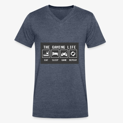 Gaming is life - Men's V-Neck T-Shirt by Canvas